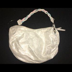 BCBG Silver Hobo Satchel Bag